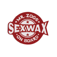 "Load image into Gallery viewer, Sex Wax on board 4"" Sticker"