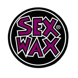 "Sex Wax words round 4"" Sticker"