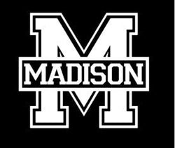 Madison Bluestreak Car Decal
