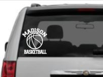 """Your Team"" Basketball Car Decal, Option to add Player Name"