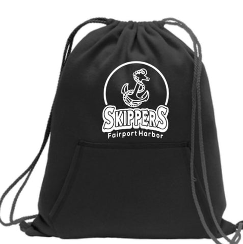 C- Skippers Design, Black Hoodie Material Cinch Sack (McKinley Spirit Wear 2019)