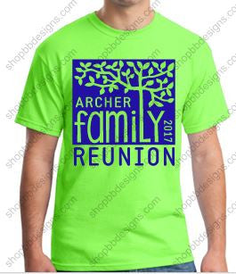 Archer Family Reunion Short Sleeve Tshirt-Group Order Example