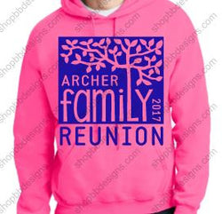 Archer Family Reunion Hooded Pullover (Example of Group Order)