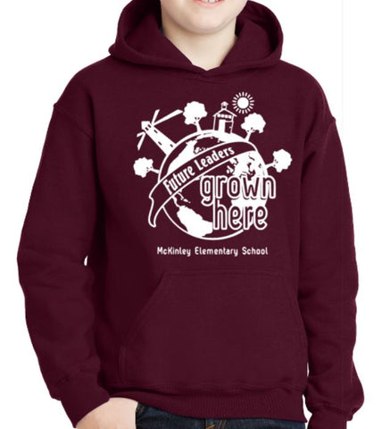 E- Future Leaders Design, Maroon Pullover Hoodie (McKinley Spirit Wear 2019)