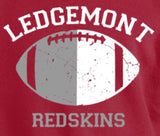 B-Ledgemont Redskins Long Sleeve Crewneck Tshirt