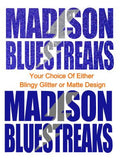 Madison Bluestreaks Baseball Raglan, Adult Sizing
