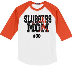 Sluggers Mom Baseball Shirt