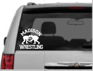 """Your Team"" Wrestling Car Decal, Option to add Player Name"