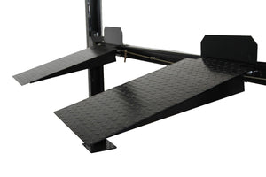 APlusLift HW-8S 8,000LB 4-Post Portable Storage Car Lift - Approach Ramps