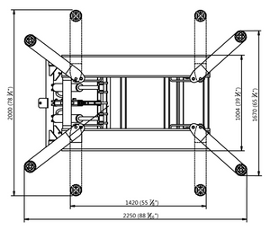 APlusLift HW-SL6600 MID RISE 6,600LB AUTO SCISSOR LIFT - Top Diagram