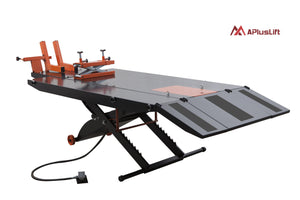 "APlusLift MT1500X 48"" Wide 1,500LB Air Operated Motorcycle ATV Lift Table"