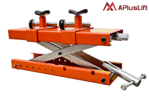 "APlusLift MT1500XLT 72"" Wide 1,500LB Air Operated Motorcycle ATV Lift Table - Service Jack"
