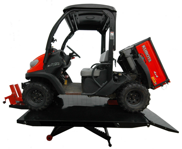 "APlusLift MT1500XLT 72"" Wide 1,500LB Air Operated Motorcycle ATV Lift Table (Free Shipping to Business)"
