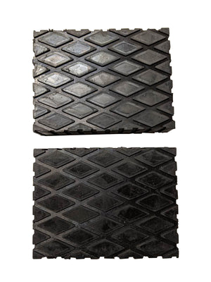 Hard rubber block pads for car lifts