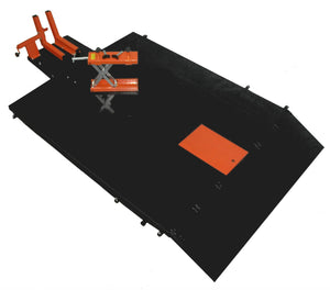 "Motorcycle Lift Table XLT Set That Extends MT1500X to 72"" Wide - Top View"