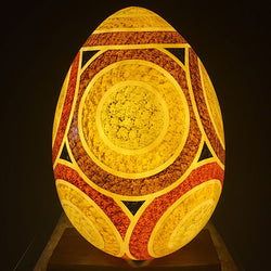 Aboriginal Earth Emu Egg Table Light from Ethnic Collection