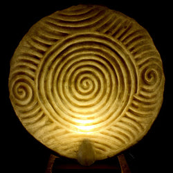 Inca Sands Disque Table Light from Ethnic Collection