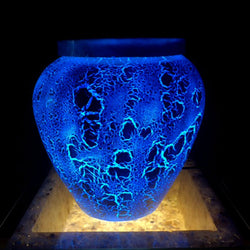 Blue Ice Pot with Lid Table Light from Abstract Collection
