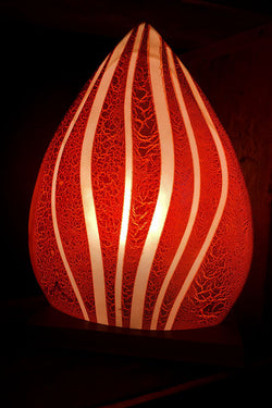 Small Red Swell Teardrop Table Light from Flow Collection