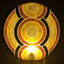 Aboriginal Earth Large Circular Table Light from Ethnic Collection