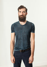Melange T-Shirt in Navy/Black