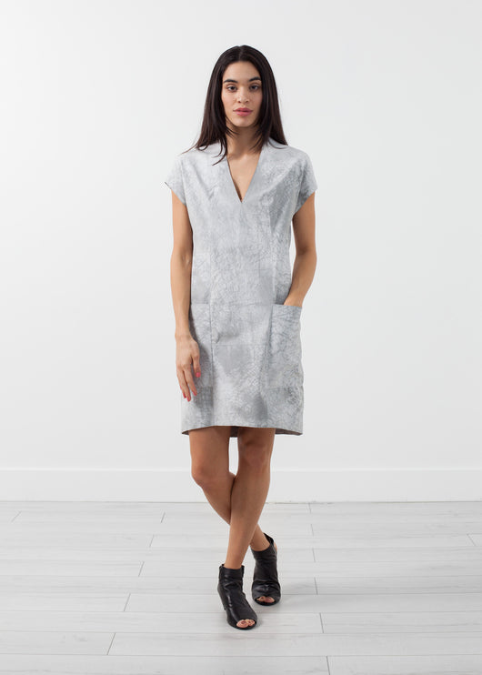Polygon Leather Dress