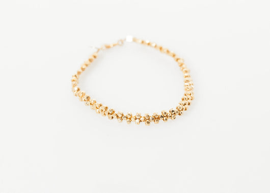 Lane Bead Bracelet in Gold Brass