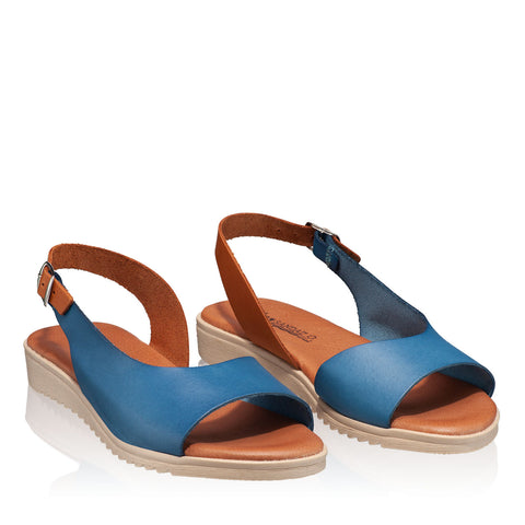 Sandale din piele naturala, model CASUAL blue