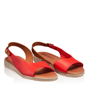 Sandale din piele naturala, model CASUAL red