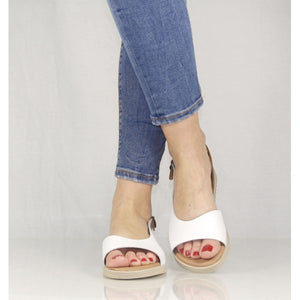 Sandale din piele naturala, model CASUAL white