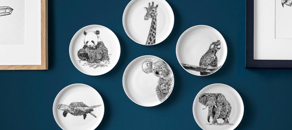 Create a plate gallery wall with Maxwell & Williams