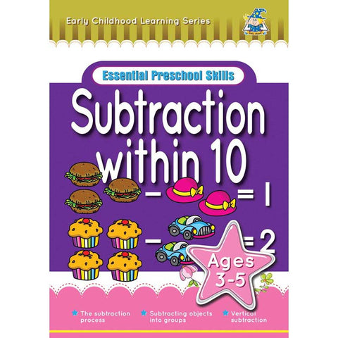 Activity Book 3-5yr Subtraction Within 10 - Yakedas Party and Giftware