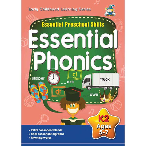 Activity Book 5-7yr Essential Phonics - Yakedas Party and Giftware