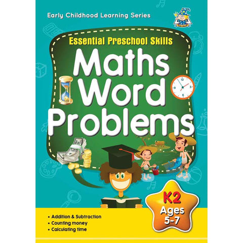 Activity Book 5-7yr Math Word Problems - Yakedas Party and Giftware