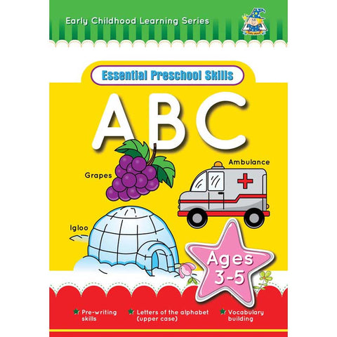 Activity Book 3-5yr Abc L-Case - Yakedas Party and Giftware