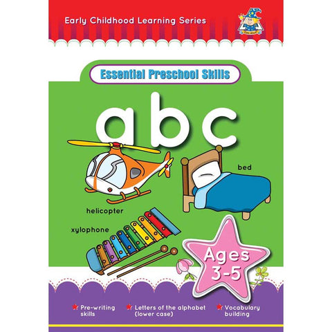 Activity Book 3-5yr Abc U-Case - Yakedas Party and Giftware