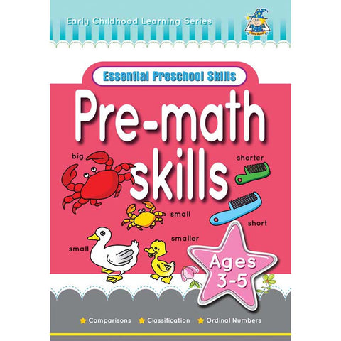 Activity Book 3-5yr Pre Math Skills - Yakedas Party and Giftware