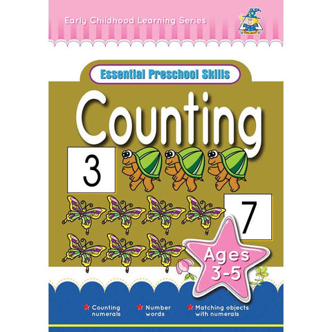 Activity Book 3-5yr Counting - Yakedas Party and Giftware