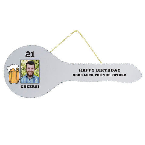 21st Mirrored Key - Beer Photo - Yakedas Party and Giftware