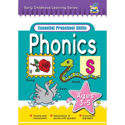Activity Book 3-5yr Phonics $0.99 - Yakedas Party and Giftware