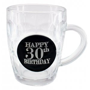 30th Dimple Stein Glass - Yakedas Party and Giftware
