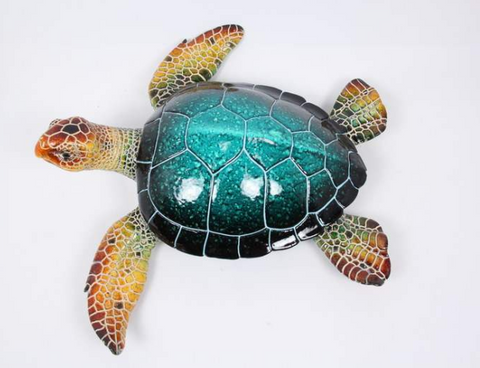38CM Realistic Marble Blue Turtle - Yakedas Party and Giftware
