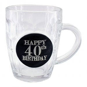 40th Dimple Stein Glass - Yakedas Party and Giftware