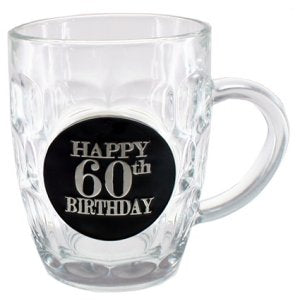 60th Dimple Stein Glass - Yakedas Party and Giftware