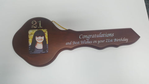 21st Wooden Key - Yakedas Party and Giftware