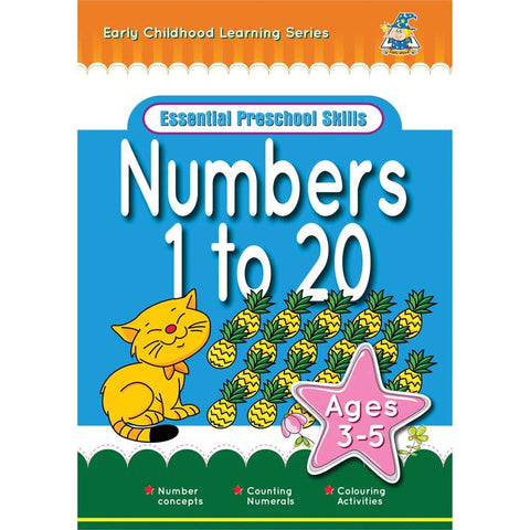 Activity Book 3-5yr Numbers 1 To 20 - Yakedas Party and Giftware