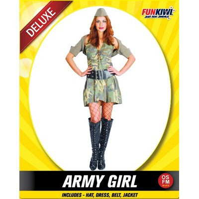 Army Girl - Yakedas Party and Giftware