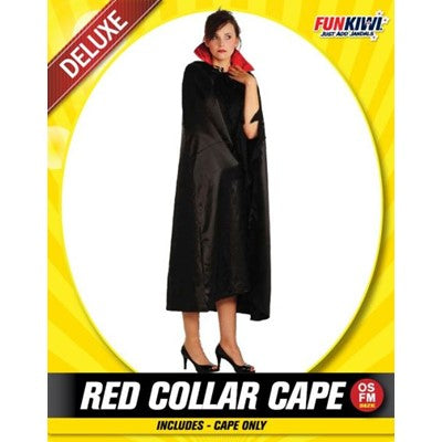 Adult Red Collar Cape - Yakedas Party and Giftware