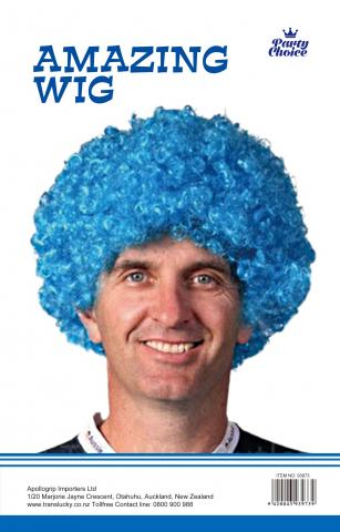 Afro Party Wig- Light Blue - Yakedas Party and Giftware