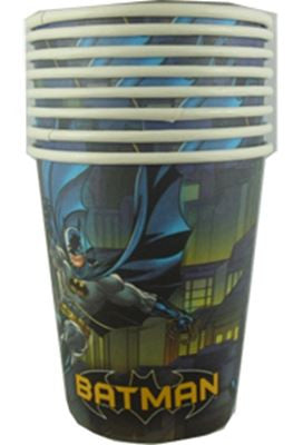 Batman Party Cups - Yakedas Party and Giftware